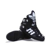 [EgQb54F] 2013 Adidas Jeremy Scott Transparent star noctilucent Printing Big Tongue Pas Cher